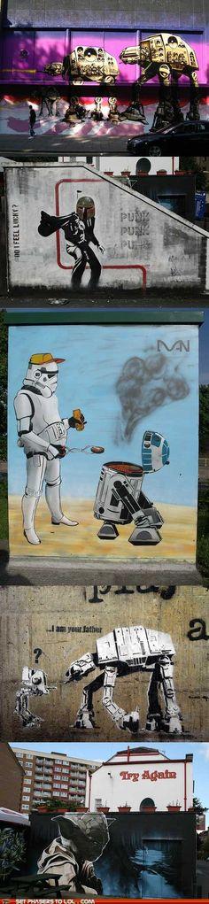 Graffiti style star wars