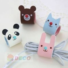 Aliexpress.com : Buy Free shipping, Creative cartoon animal rolling up cable winder/ Earphone cable Winder/Cord holder/ Cable Organizer (ss ...