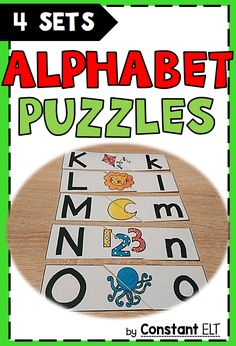 4 sets of alphabet puzzles!! Perfect for literacy centers and homeschooling!