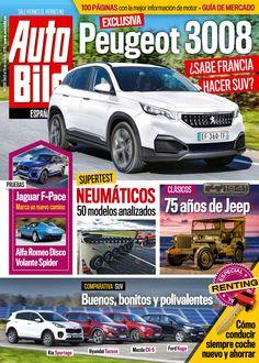 Revista #Autobild 506. #Peugeot 3008, 75 años de #Jeep, #Jaguar F-Pace, analizamos 50 modelos de #neumáticos y mucho más.
