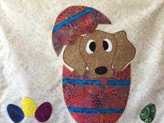 Easter Egg Dog Applique Quilt Pattern   Craftsy