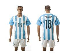 2015-2016 Argentina #18 PALACIO Home Soccer Jersey
