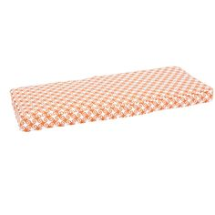 Perry Wavy Orange Indoor/ Outdoor Corded Bench Cushion (60 inch) (Polyester, Geometric), Outdoor Cushion