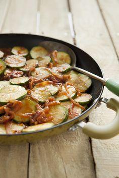 Paula Deen Zucchini and Red Onion Saute