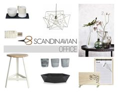 """""""Scandinavian Office"""" by nmkratz ❤ liked on Polyvore featuring interior, interiors, interior design, home, home decor, interior decorating, House Doctor, Just Slate Company and Le Labo"""
