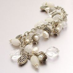 Winter White Sterling Silver Charm Bracelet