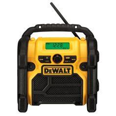DEWALT DCR018 18V/12V/20V MAX Compact Worksite Radio DEWALT http://www.amazon.com/dp/B00EV1AUFO/ref=cm_sw_r_pi_dp_cq5Vwb0D6PA4W