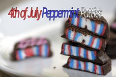 ~ 4th Of July Peppermint Patties ~ @Brittany Grant, reminded me of something you would pin.