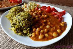 veg-i-vet: Cizrna na paprice s rýží Chana Masala, Ethnic Recipes, Food, Red Peppers, Essen, Meals, Yemek, Eten