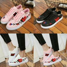 SEPATU FASHION GUCCI ACE EMBROIDERED SNEAKER JC 918 WEIGHT  600 GR MATERIAL   KULIT KANVAS QUALITY   SEMI PREMIUM COLLOR   (BLACK a617eab74a