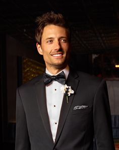 A classic black tuxedo is the perfect ensemble for a formal affair. #menswearhouse #tuxedos
