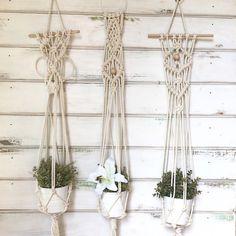 Macrame plant hanger by RanranDesign on Etsy