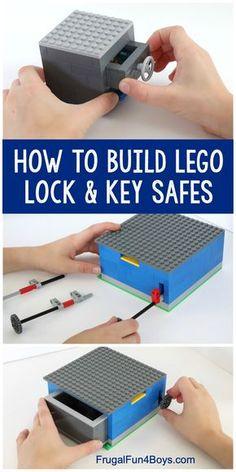 How to Build LEGO Safes with Lock & Key – Fun LEGO machine for kids to build! Th… How to Build LEGO Safes with Lock & Key – Fun LEGO machine for kids to build! The key really works to open the safe. Lego Duplo, Lego Club, Lego Design, Lego Hacks, Lego Candy, Lego Machines, Lego Challenge, Lego Activities, Lego Craft