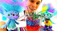 Видео для детей. Игрушки из мультика #ТРОЛЛИ. Синелька и Артистка: Загад...