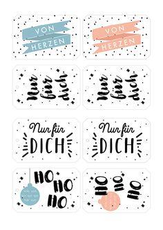 Weihnachtliche Geschenkeanhänger zum Gratis-Download via www.makerist.de/magazin