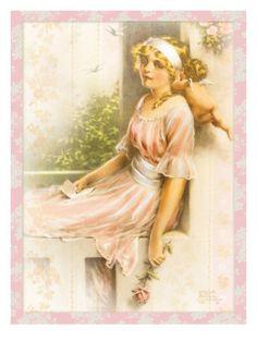 """""""Love's Message"""" by Bessie Pease Gutmann"""