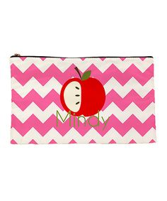 Love this Pink Apple Personalized Pencil Bag on #zulily! #zulilyfinds