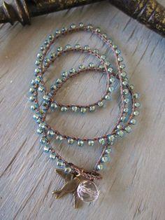 Colorful crochet wrap bracelet