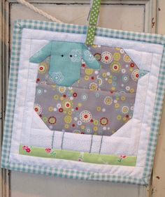 Farm Girl Wooly Sheep Block Kit