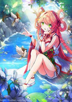 Anime Girl Cute, Beautiful Anime Girl, Kawaii Anime Girl, Anime Girls, Fan Anime, Anime Art, Lolis Neko, Anime Summer, Anime Fantasy