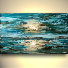 ORIGINAL Abstract Seascape Painting On Canvas by OsnatFineArt, $450.00