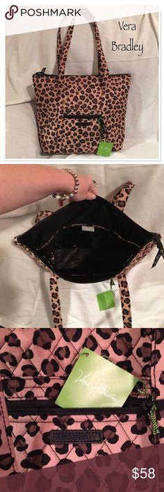 """Vera Bradley Tote New / Limited Edition - Villager Leopard Chic Tote - Measures; 15"""" across x 12.5"""" tall x 4"""" deep with 22"""" handle drop Vera Bradley Bags Totes"""