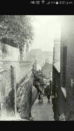 Long Stairs Nottingham Nottingham Lace, Nottingham City, Local History, Family History, History Photos, Regency, Old Photos, Walks, Britain