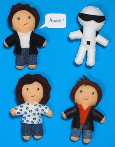 Top Gear Inspired Felt Plush Figures set of four handmade to order...which is good, because Clarkson and May need a little more stuffing in the middle.