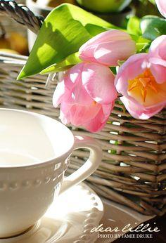 tulips & a tea mug =)