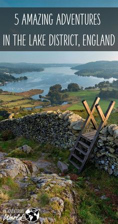 Loughrigg Fell: A marvelous hike in the Lake District offering spectacular views of Lake Windermere.That little ladder is called a stile. The structure allows hikers to safely cross over ancient stone walls that criss-cross the English countryside. Cumbria, Derbyshire, British Countryside, Seen, Europe Destinations, Belle Photo, Great Britain, Wonders Of The World, Travel Inspiration