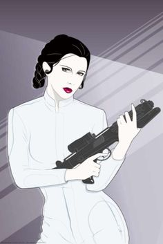 Patrick Nagel style Princess Leia