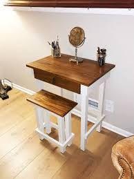 Makeup Vanity Table Custom Wood Table Small Wood Table | Etsy Bathroom With Makeup Vanity, Makeup Table Vanity, Wood Vanity, Wood Mirror, Wood Desk, Makeup Vanities, Kusadasi, Mirror Work, Rustic Coffee Tables