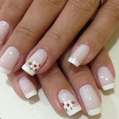 37 Best Ideas For Short French Manicure Diy Cute Nails, Pretty Nails, My Nails, Golden Nails, Soft Nails, Simple Acrylic Nails, French Nail Art, Clear Nails, Nail Shop