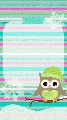 Owl Wallpaper Iphone, Hello Kitty Wallpaper, Cellphone Wallpaper, Mobile Wallpaper, Christmas Phone Wallpaper, Holiday Wallpaper, Winter Wallpaper, Owl Clip Art, Owl Art