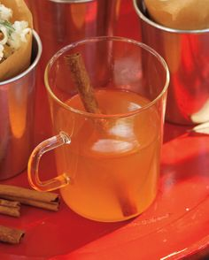 Hot and Nutty Whiskey Sours | Martha Stewart Living - This warm take on the whiskey sour adds Nocello, a walnut-flavored liqueur, for a nutty twist.