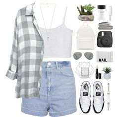 Untitled #509 by amy-lopezx on Polyvore featuring Monki, Topshop, NIKE, PB 0110, Akira, Amber Sceats, Ray-Ban, MAC Cosmetics, NYX and Andis