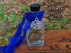 WATER ELEMENTAL Witch Bottle 2oz For Elemental Honouring, Spellcraft, Watchtower Magick, Sacred Offerings, Witchcraft, Spirit Calling by DewberrysHerbal on Etsy