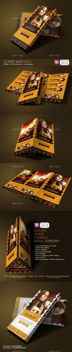 Coffee Shop Magazine Ad or Flyer Template V2 on Behance broşür - coffee shop brochure template