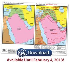 Middle east map now and then