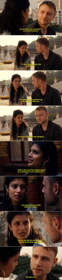 Kala + Wolfgang: So you think our connection ... is some kind of miracle? #sense8