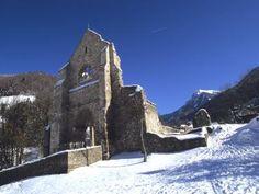Abbaye d aulps sous la neige guide du tourisme de la haute savoie rhone alpes
