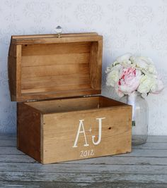 Wedding Card Keepsake Box Vintage Shabby Chic Wedding Decor. $99.00, via Etsy.