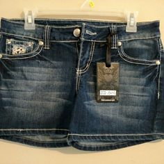 Cute Jean shorts ZCO jeans shorts size 9 never been wore. zco  Shorts Jean Shorts