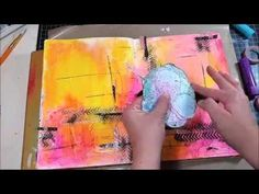 Art Journal Tutorial with Gelato Tips - YouTube modeling paste technique and gel medium