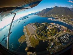 Wing over Sitka,Alaska. Who doesn't want to go there !!!