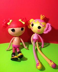 Two Lalaloopsy Dolls, Princess Saffron & Ember Flicker Flame, Full Size. http://stores.ebay.com/oldcrowstreasures247 @old_crows_treasures  #lalaloopsydollsforsale #lalaloopsydolls #toysforsale #toysforgirls
