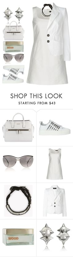 """Chelsea"" by brie-the-pixie ❤ liked on Polyvore featuring Dsquared2, white, contestentry, dsquared2 and whitesneakers"