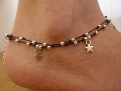 Star anklet / Gypsy beaded Anklet / MANY COLORS / by Oniropolis