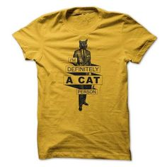 Awesome Tee Im Definitely A Cat Person Man Shirts & Tees