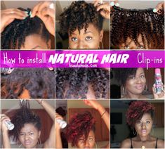 A detailed instructive post showcasing how to install natural hair clip ins using Big Chop Hair exensions on short natural hair